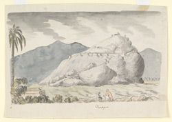 The hill-fort of Dindigul, figures seated in the foreground